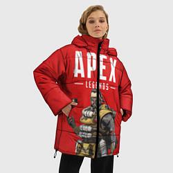 Женская зимняя 3D-куртка с капюшоном с принтом Apex Legends: Red Caustic, цвет: 3D-черный, артикул: 10173374306071 — фото 2