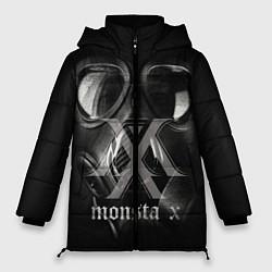 Женская зимняя 3D-куртка с капюшоном с принтом Monsta X, цвет: 3D-черный, артикул: 10186857506071 — фото 1
