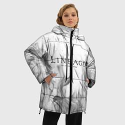 Женская зимняя 3D-куртка с капюшоном с принтом LINEAGE 2, цвет: 3D-черный, артикул: 10202648906071 — фото 2