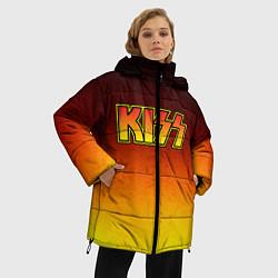 Куртка зимняя женская KISS цвета 3D-черный — фото 2