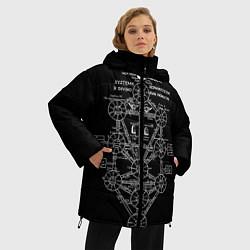 Женская зимняя 3D-куртка с капюшоном с принтом EVa-updown, цвет: 3D-черный, артикул: 10206831706071 — фото 2