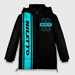 Женская зимняя 3D-куртка с капюшоном с принтом NILETTO, цвет: 3D-черный, артикул: 10213510906071 — фото 1