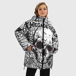 Женская зимняя 3D-куртка с капюшоном с принтом Megadeth, цвет: 3D-черный, артикул: 10218068906071 — фото 2
