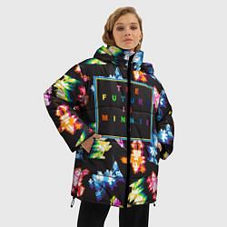 Женская зимняя 3D-куртка с капюшоном с принтом Минни Маус, цвет: 3D-черный, артикул: 10250660706071 — фото 2