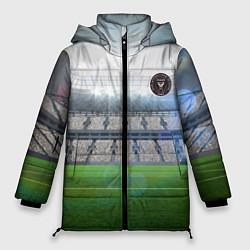 Женская зимняя 3D-куртка с капюшоном с принтом FC INTER MIAMI, цвет: 3D-черный, артикул: 10256803706071 — фото 1