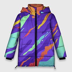 Женская зимняя 3D-куртка с капюшоном с принтом СЛАЙМ l SLIME, цвет: 3D-черный, артикул: 10270078506071 — фото 1