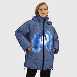 Женская зимняя 3D-куртка с капюшоном с принтом Спящая принцесса Луна, цвет: 3D-черный, артикул: 10274331706071 — фото 2
