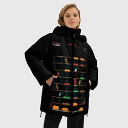 Женская зимняя 3D-куртка с капюшоном с принтом Deadpool игра, цвет: 3D-черный, артикул: 10275022106071 — фото 2