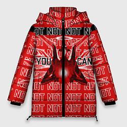 Женская зимняя 3D-куртка с капюшоном с принтом Evangelion Eva 01 You can not, цвет: 3D-черный, артикул: 10275315906071 — фото 1