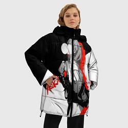 Женская зимняя 3D-куртка с капюшоном с принтом Asuka Langley Evangelion, цвет: 3D-черный, артикул: 10277925106071 — фото 2