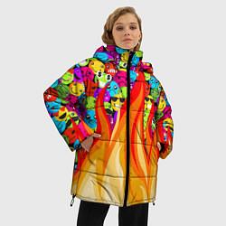 Куртка зимняя женская SLAVA MARLOW - Смайлики - фото 2