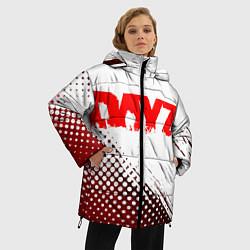 Женская зимняя 3D-куртка с капюшоном с принтом Dayz, цвет: 3D-черный, артикул: 10287511906071 — фото 2