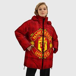 Женская зимняя 3D-куртка с капюшоном с принтом Manchester United, цвет: 3D-черный, артикул: 10063820006071 — фото 2