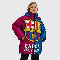 Женская зимняя 3D-куртка с капюшоном с принтом Barca Football, цвет: 3D-черный, артикул: 10063905806071 — фото 2