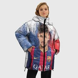 Куртка зимняя женская Neymar FCB цвета 3D-черный — фото 2