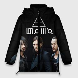 Женская зимняя 3D-куртка с капюшоном с принтом 30 seconds to mars, цвет: 3D-черный, артикул: 10063908806071 — фото 1
