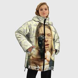 Куртка зимняя женская Кобейн с пистолетом цвета 3D-черный — фото 2