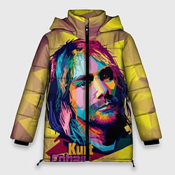 Куртка зимняя женская Kurt Cobain: Abstraction - фото 1