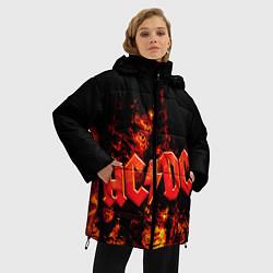 Куртка зимняя женская AC/DC Flame цвета 3D-черный — фото 2