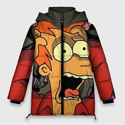 Женская зимняя 3D-куртка с капюшоном с принтом Frai Horrified, цвет: 3D-черный, артикул: 10064261906071 — фото 1