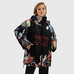 Куртка зимняя женская Pink Floyd: The Wall цвета 3D-черный — фото 2