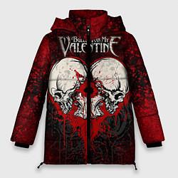 Куртка зимняя женская BFMV: Duo Skulls цвета 3D-черный — фото 1