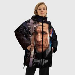 Куртка зимняя женская Доктор кто цвета 3D-черный — фото 2