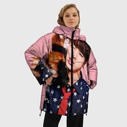 Куртка зимняя женская BTS: Love Me цвета 3D-черный — фото 2