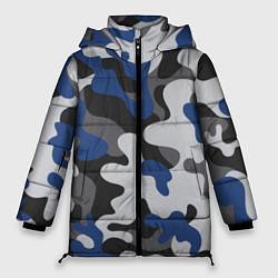 Куртка зимняя женская Зимний камуфляж цвета 3D-черный — фото 1