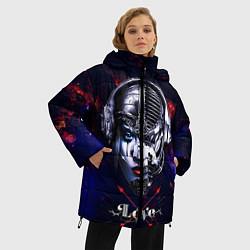 Куртка зимняя женская Love pirate station цвета 3D-черный — фото 2