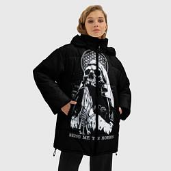 Женская зимняя 3D-куртка с капюшоном с принтом BMTH: Skull Pray, цвет: 3D-черный, артикул: 10073642906071 — фото 2