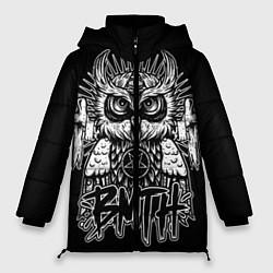 Женская зимняя 3D-куртка с капюшоном с принтом BMTH Owl, цвет: 3D-черный, артикул: 10073643806071 — фото 1