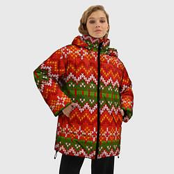 Куртка зимняя женская Зимний узор - фото 2