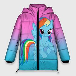 Женская зимняя 3D-куртка с капюшоном с принтом My Little Pony, цвет: 3D-черный, артикул: 10075443506071 — фото 1