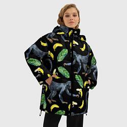 Куртка зимняя женская Обезьянки и бананы - фото 2