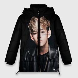 Куртка зимняя женская Вишня цвета 3D-черный — фото 1