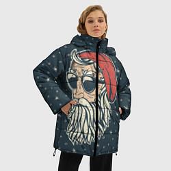 Куртка зимняя женская Санта хипстер - фото 2