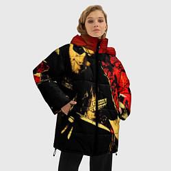Женская зимняя 3D-куртка с капюшоном с принтом Redwood original, цвет: 3D-черный, артикул: 10078855706071 — фото 2
