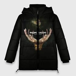 Женская зимняя 3D-куртка с капюшоном с принтом Imagine Dragons: Smoke + Mirrors, цвет: 3D-черный, артикул: 10078925306071 — фото 1
