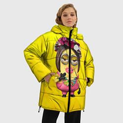 Куртка зимняя женская Дамочка цвета 3D-черный — фото 2
