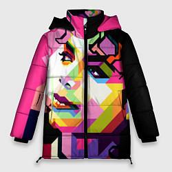 Куртка зимняя женская Michael Jackson Art цвета 3D-черный — фото 1