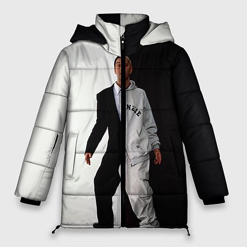 Женская зимняя куртка Eminem: Black & White / 3D-Черный – фото 1