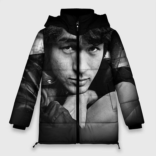 Женская зимняя куртка Виктор Цой / 3D-Черный – фото 1