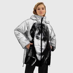Куртка зимняя женская Кино: Виктор Цой цвета 3D-черный — фото 2