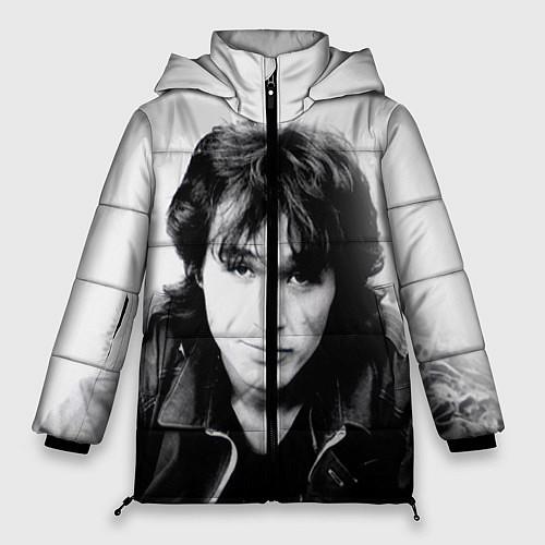 Женская зимняя куртка Кино: Виктор Цой / 3D-Черный – фото 1