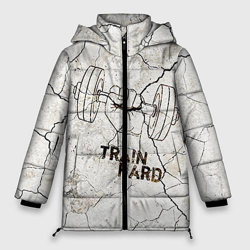 Женская зимняя куртка Train hard / 3D-Черный – фото 1