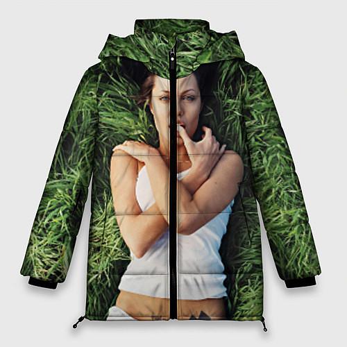 Женская зимняя куртка Анджелина Джоли / 3D-Черный – фото 1