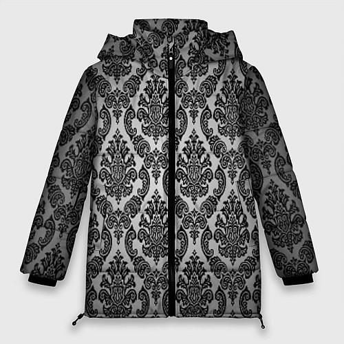 Женская зимняя куртка Гламурный узор / 3D-Черный – фото 1
