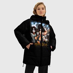Куртка зимняя женская Kiss Monster цвета 3D-черный — фото 2