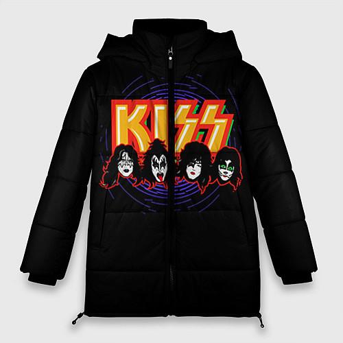 Женская зимняя куртка KISS: Death Faces / 3D-Черный – фото 1